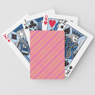 Abstract Airbrush Pastel Diagonal Stripes Bicycle Playing Cards