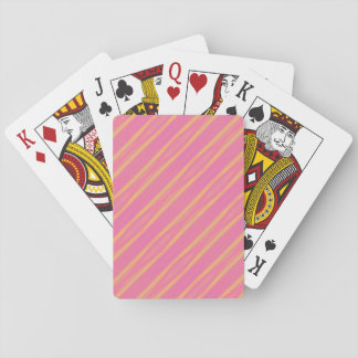 Abstract Airbrush Pastel Diagonal Stripes Playing Cards