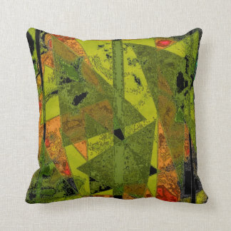 """Abstract Ala Mode"" Polyester Throw Pillow"
