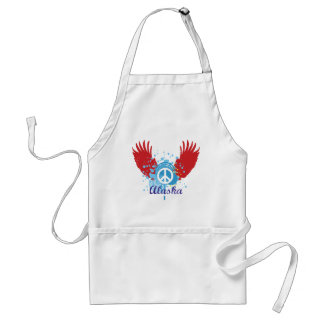 Abstract Alaska Peace Standard Apron