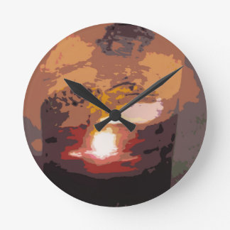 Abstract Alligator Reptile Art Wall Clocks