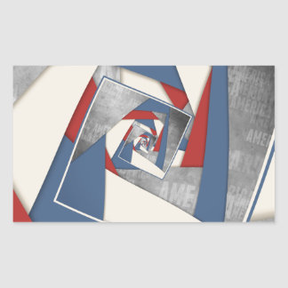 Abstract America Collage 2 Rectangular Sticker