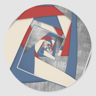 Abstract America Collage 2 Round Sticker