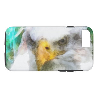 Abstract American Bald Eagle iPhone 7 Case