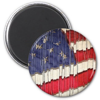 Abstract American Flag Magnet