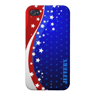 Abstract American Flag Monogram 2 Case For iPhone 4