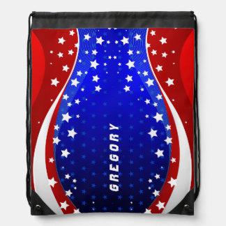 Abstract American Flag Patriotic Design Rucksacks