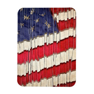 Abstract American Flag Rectangular Photo Magnet