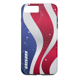 Abstract American Flag Stars & Stripes iPhone 7 Plus Case