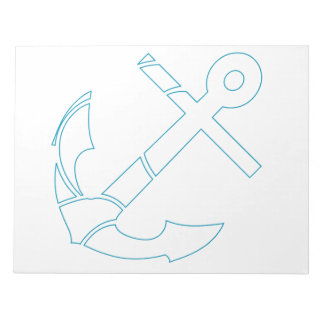 Abstract anchor design notepad