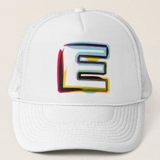 Abstract and colorful letter E Trucker Hat