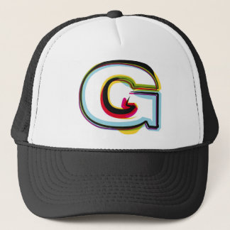 Abstract and colorful letter G Trucker Hat