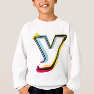 Abstract and colorful letter y sweatshirt