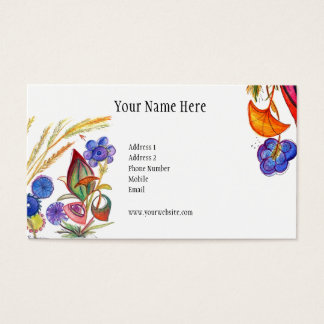 Abstract and colorful Tree Business Card