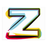 Abstract and colourful letter Z Postcard