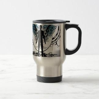 Abstract Angel Black White Shadows Coffee Mug