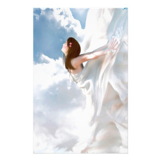 Abstract Angel Cloudy Flutter Dress Stationery