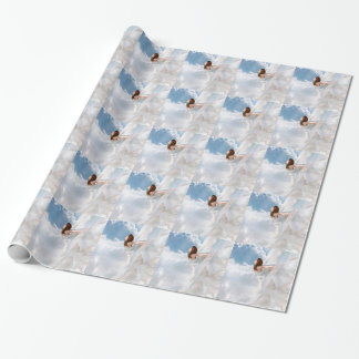 Abstract Angel Cloudy Flutter Dress Wrapping Paper
