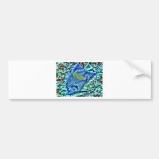 Abstract Angel Fish Bumper Sticker