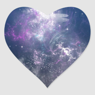 Abstract Angel Space Storm Heart Stickers