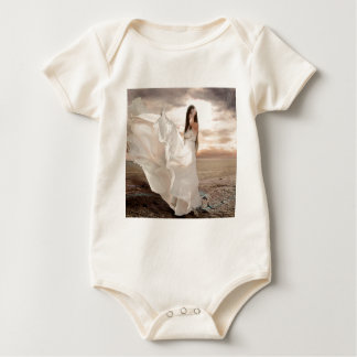 Abstract Angel White Dressed Beauty Rompers