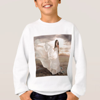 Abstract Angel White Dressed Beauty Tees