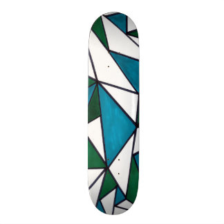 Abstract Angles - Green/Blue Skateboard