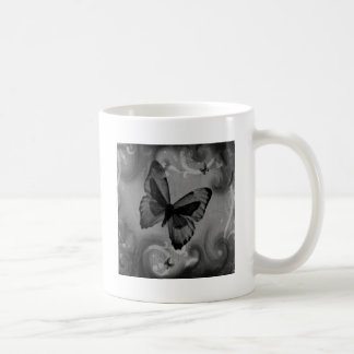Abstract Animal Black Butterfly Mugs