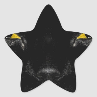 Abstract Animal Cats Eye Yellow Star Stickers