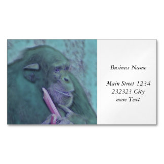 abstract animal chimp magnetic business cards