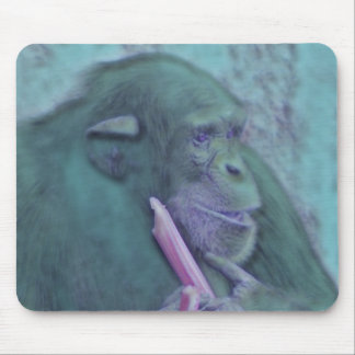 abstract animal chimp mouse pad