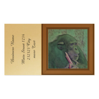 abstract animal chimp pack of standard business cards