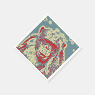 abstract Animal - Chimpanzee Disposable Napkins