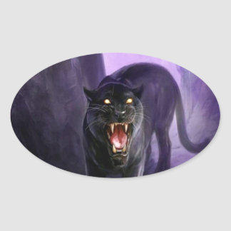 Abstract Animal Deadly Panther Stickers