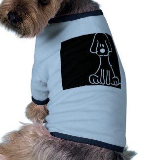 Abstract Animal Doodle Dog Doggie Tee
