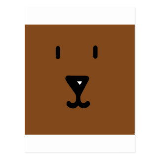 Abstract Animal Flat Bear Postcard