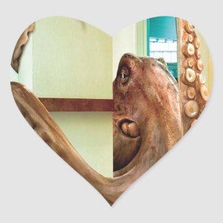 Abstract Animal Home Octopus Heart Sticker