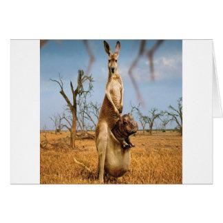 Abstract Animal Kangaroo Wierd Greeting Card