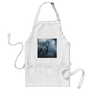 Abstract Animal Moonlight Horse Standard Apron