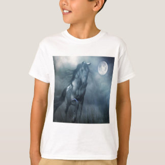 Abstract Animal Moonlight Horse T-Shirt