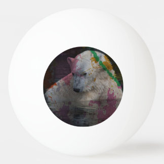 abstract Animal - Polar Bear Ping Pong Ball