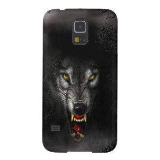 Abstract Animal Snarl Wolf Galaxy S5 Cases