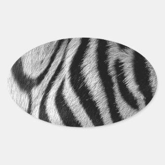Abstract Animal Zebra Eye Oval Sticker