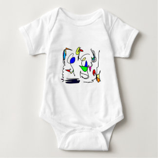 abstract animals baby bodysuit