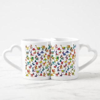 Abstract Animals Pattern Tiles Lovers Mug