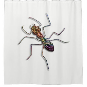 Abstract Ant Shower Curtain