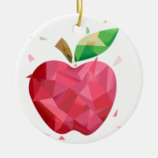 Abstract Apple Christmas Ornament