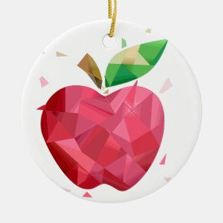 Abstract Apple Round Ceramic Decoration