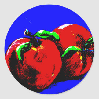 Abstract Apple Sticker