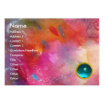 ABSTRACT AQUAMARINE PACK OF CHUBBY BUSINESS CARDS